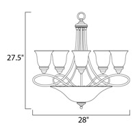 Maxim Lighting Nova 7 Light Multi-Tier Chandelier in Satin Nickel 11041MRSN alternative photo thumbnail