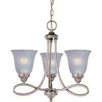 Maxim 11042MRSN Nova 3 Light 18 inch Satin Nickel Mini Chandelier Ceiling Light