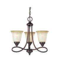 Maxim Lighting Nova 3 Light Mini Chandelier in Oil Rubbed Bronze 11042WSOI photo thumbnail