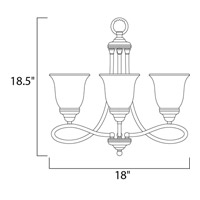 Maxim 11042MRSN Nova 3 Light 18 inch Satin Nickel Mini Chandelier Ceiling Light alternative photo thumbnail