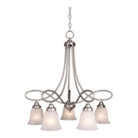 Maxim 11043MRSN Nova 5 Light 26 inch Satin Nickel Down Light Chandelier Ceiling Light photo thumbnail