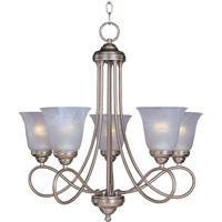 Nova 5 Light 25 inch Satin Nickel Single Tier Chandelier Ceiling Light