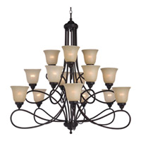 Maxim Lighting Nova 15 Light Multi-Tier Chandelier in Oil Rubbed Bronze 11045WSOI