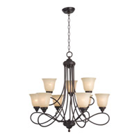 Maxim Lighting Nova 9 Light Multi-Tier Chandelier in Oil Rubbed Bronze 11046WSOI photo thumbnail