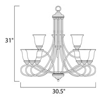 Maxim 11046MRSN Nova 9 Light 31 inch Satin Nickel Multi-Tier Chandelier Ceiling Light alternative photo thumbnail
