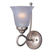 Maxim 11047MRSN Nova 1 Light 6 inch Satin Nickel Wall Sconce Wall Light photo thumbnail