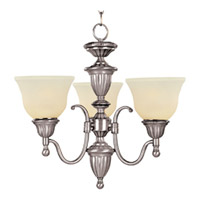Maxim Lighting Soho 3 Light Mini Chandelier in Satin Nickel 11049SVSN