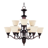 Maxim Lighting Soho 9 Light Multi-Tier Chandelier in Oil Rubbed Bronze 11054SVOI