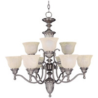 Maxim Lighting Soho 9 Light Multi-Tier Chandelier in Satin Nickel 11054SVSN