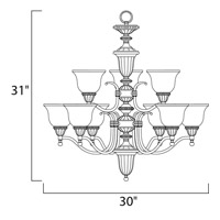 Maxim Lighting Soho 9 Light Multi-Tier Chandelier in Oil Rubbed Bronze 11054SVOI alternative photo thumbnail