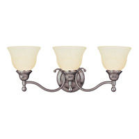 Soho 3 Light 24 inch Satin Nickel Bath Light Wall Light