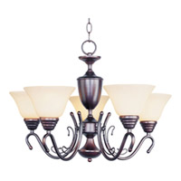 Maxim Lighting Newport 5 Light Single Tier Chandelier in Oil Rubbed Bronze 11063WSOI