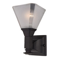 Maxim Lighting Brentwood 1 Light Wall Sconce in Oil Rubbed Bronze 11076FTOI