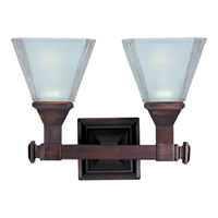 Maxim Lighting Brentwood 2 Light Bath Light in Oil Rubbed Bronze 11077FTOI