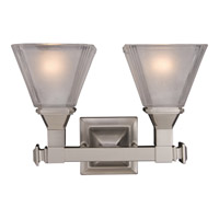 Maxim 11077FTSN Brentwood 2 Light 13 inch Satin Nickel Bath Light Wall Light photo thumbnail