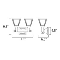 Maxim 11077FTSN Brentwood 2 Light 13 inch Satin Nickel Bath Light Wall Light alternative photo thumbnail