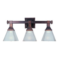 Maxim 11078FTOI Brentwood 3 Light 21 inch Oil Rubbed Bronze Bath Light Wall Light photo thumbnail