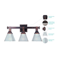 Maxim 11078FTOI Brentwood 3 Light 21 inch Oil Rubbed Bronze Bath Light Wall Light alternative photo thumbnail
