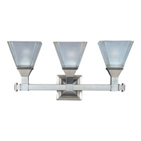 Maxim 11078FTSN Brentwood 3 Light 21 inch Satin Nickel Bath Light Wall Light photo thumbnail