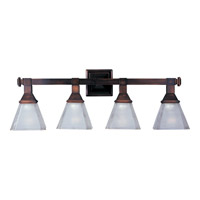 Maxim 11079FTOI Brentwood 4 Light 28 inch Oil Rubbed Bronze Bath Light Wall Light