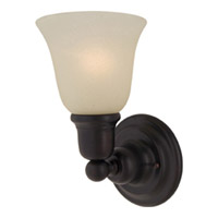 Maxim Lighting Bel Air 1 Light Wall Sconce in Oil Rubbed Bronze 11086SVOI