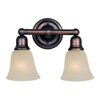 Maxim Lighting Bel Air 2 Light Bath Light in Oil Rubbed Bronze 11087SVOI
