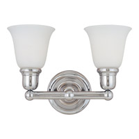Maxim Lighting Bel Air 2 Light Bath Light in Polished Chrome 11087WTPC photo thumbnail