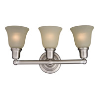 Bel Air 3 Light 23 inch Satin Nickel Bath Light Wall Light