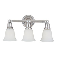 Maxim Lighting Bel Air 3 Light Bath Light in Polished Chrome 11088WTPC