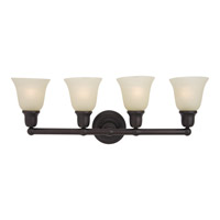Maxim 11089SVOI Bel Air 4 Light 31 inch Oil Rubbed Bronze Bath Light Wall Light in Soft Vanilla