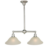 Bel Air 2 Light 31 inch Satin Nickel Island Pendant Ceiling Light