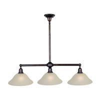 Maxim 11093SVOI Bel Air 3 Light 44 inch Oil Rubbed Bronze Island Pendant Ceiling Light