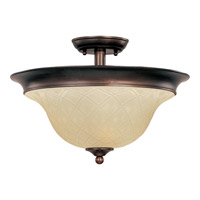 Maxim Lighting Brighton 3 Light Semi Flush Mount in Oil Rubbed Bronze 11172EVOI