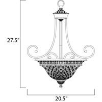Maxim Lighting Brighton 3 Light Pendant in Oil Rubbed Bronze 11174EVOI alternative photo thumbnail