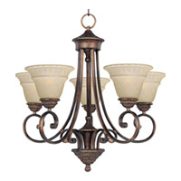 Maxim Lighting Brighton 5 Light Single Tier Chandelier in Oil Rubbed Bronze 11175EVOI