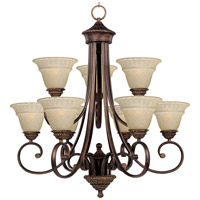 Brighton 9 Light 29 inch Oil Rubbed Bronze Multi-Tier Chandelier Ceiling Light
