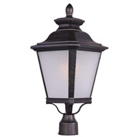 Maxim Lighting Knoxville 1 Light Post Lantern in Bronze 1121FSBZ
