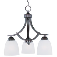 Maxim 11223FTOI Axis 3 Light 18 inch Oil Rubbed Bronze Down Light Chandelier Ceiling Light in 18 in.