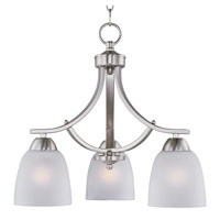 Maxim Lighting Axis 3 Light Down Light Chandelier in Satin Nickel 11223FTSN