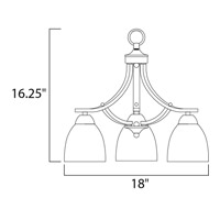 Maxim 11223FTOI Axis 3 Light 18 inch Oil Rubbed Bronze Down Light Chandelier Ceiling Light in 18 in. alternative photo thumbnail