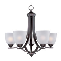 Maxim 11225FTOI Axis 5 Light 24 inch Oil Rubbed Bronze Single Tier Chandelier Ceiling Light