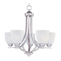 Maxim 11225FTSN Axis 5 Light 24 inch Satin Nickel Single Tier Chandelier Ceiling Light