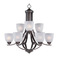 Maxim 11226FTOI Axis 9 Light 28 inch Oil Rubbed Bronze Multi-Tier Chandelier Ceiling Light