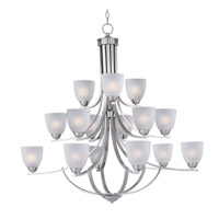 Maxim 11228FTSN Axis 15 Light 43 inch Satin Nickel Multi-Tier Chandelier Ceiling Light
