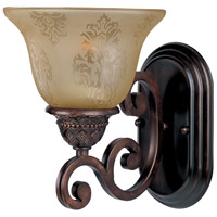 Maxim 11230SAOI Symphony 1 Light 7 inch Oil Rubbed Bronze Wall Sconce Wall Light in Screen Amber photo thumbnail