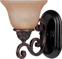 Maxim 11230SAOI Symphony 1 Light 7 inch Oil Rubbed Bronze Wall Sconce Wall Light in Screen Amber alternative photo thumbnail