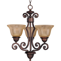 Symphony 3 Light 19 inch Oil Rubbed Bronze Mini Chandelier Ceiling Light in Screen Amber