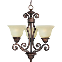 Symphony 3 Light 19 inch Oil Rubbed Bronze Mini Chandelier Ceiling Light in Soft Vanilla