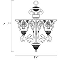 Maxim 11235SAOI Symphony 3 Light 19 inch Oil Rubbed Bronze Mini Chandelier Ceiling Light in Screen Amber alternative photo thumbnail