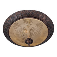 Symphony 2 Light 19 inch Oil Rubbed Bronze Flush Mount Ceiling Light in Screen Amber
